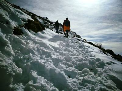Trek route to Tungnath